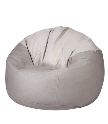 Inner pouf Toby leather fabric