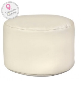 Inner Drum leather pouf