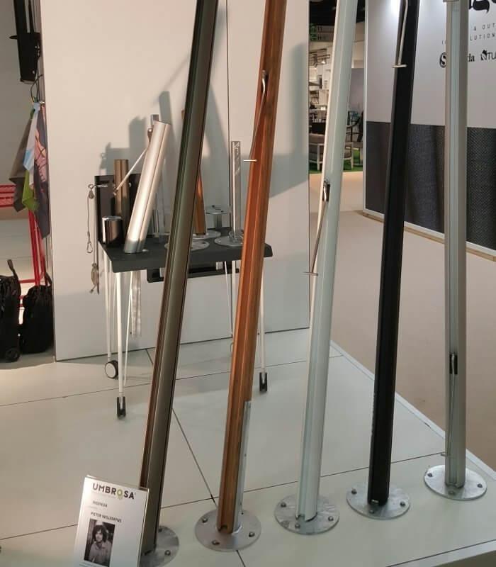 Mat voile poteau alu pour voile d 39 ombrage design extra - Poteau voile d ombrage ...