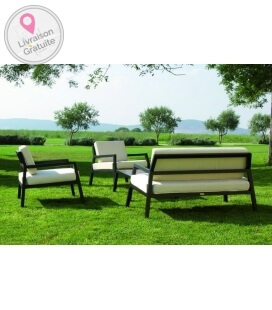 Modern garden furniture 4 places + 1 Modena table