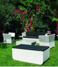 Original garden furniture 5 seats + 1 table + 1 chest Prahia
