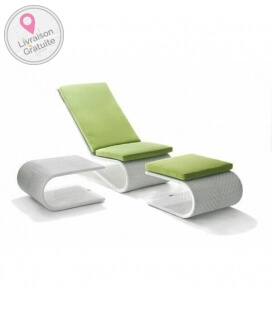 Relax chair with footrest and table Equinoxe