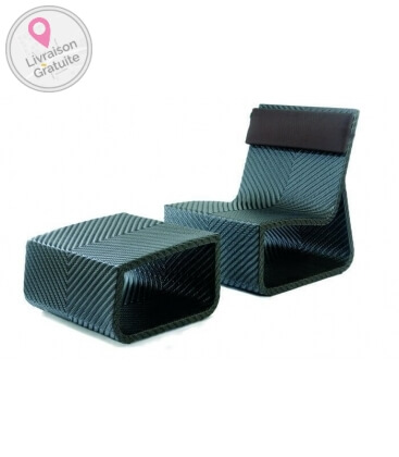 Armchair and pouf for 2 people Summertime Chair