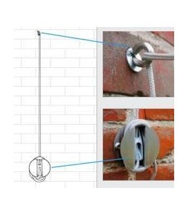 The Ingenua wall mount kit for Awnings sail