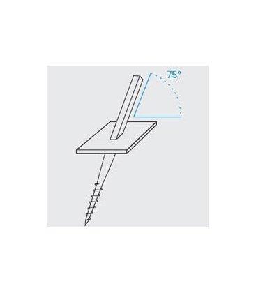 Anchor a screw 75 deg