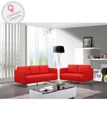 Sofa run 2 + 3 seats red lounge