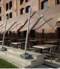 Spectra Parasol Carré 300 cm déporté structure alu parasol hotel restaurant