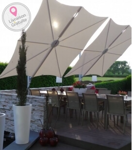 Spectra Sunshade Square 300 cm deported structure alu sunshade hotel restaurant