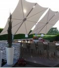 Spectra Parasol 300 cm deported Square
