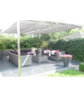 Store Vélum Pergola HDPE Nesling installation double anthracite