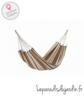 Bio natura hammock without bar wood stripes ecru linden XXL jobek