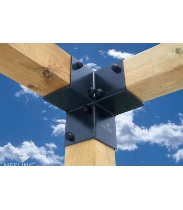 Kit Pergola raccord d'angle x 2 Nesling