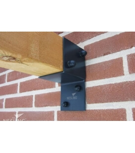 Pergola kit wall fitting x 2 nesling for installing pergola against a wall
