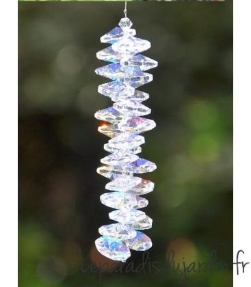 Chakra icicle cristal ornemental d'extérieur transparent décoration de jardin