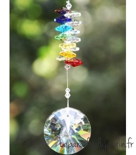 decorative ornament for crystal exterior that reflects the sun's rays