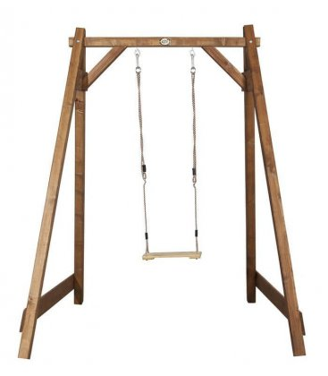 Simple swing 1 person axi wood quality and color brown or white gray