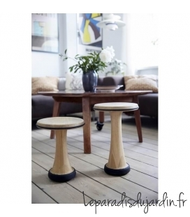 Oneleg oak wood wood stool 32 or 40 cm high