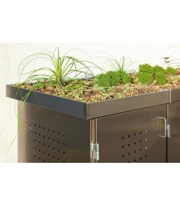 abris Binto couvercle ou plateau plantes - Habillage acier inoxydable 1 2 3 ou 4 poubelles