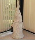 Gnome of Christmas Snow in resin gnome Santa Claus quality 72 cm wood effect