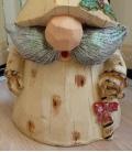 Lutin de Noel Horick 76 cm, gnome de noel au long chapeau en résine pour extérieur, poids 5.2kg
