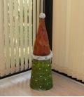Gnome de Noel Gorfi 64 cm en résine pour extérieur et intérieur qualité extra, nain de jardin de noel