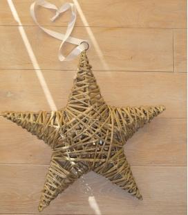 étoile de noel à suspendre en fibre végétale.