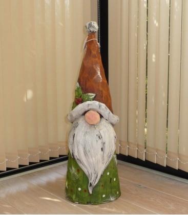 Gnome de Noel Gorfi 64 cm en résine pour extérieur ou intérieur qualité extra nain de jardin de noel