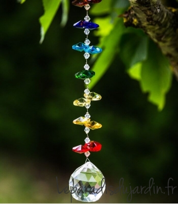 Chakra Léane ornament crystal light sensor for outdoor typically English deco