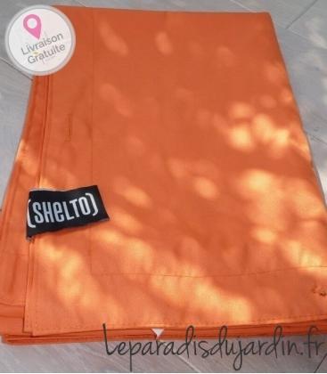 Housse shelto pouf 125 x 175 housse seule coloris orange