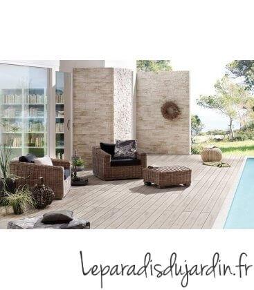terrasse en Bois composite plein dreamdeck bicolor traumgarten amande anthracite sable