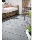 lame de terrasse Bois composite dreamdeck platinium gris