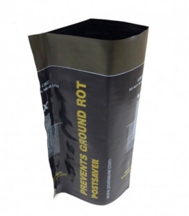 Protection wood bitumen postsaver