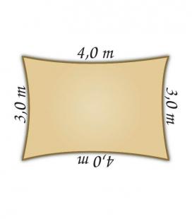 Voile rectangulaire 3x4m Densité Nesling