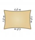 Voile d'ombrage Nesling rectangle 3x4m Densité 285Gr Nesling Couleur sable