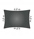 Voile d'ombrage Nesling rectangle 3x4m Densité 285Gr Nesling Couleur anthracite