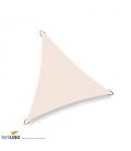 Voile d'ombrage triangle imperméable dreamsail Nesling 5m densité 220Gr coloris crème