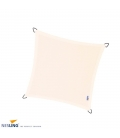 Nesling waterproof square shade sail, off-white, cream 5m density 220Gr