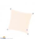 Voile d'ombrage carré imperméable nesling coloris blanc cassé, crème 5m densité 220Gr