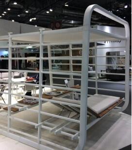 Nauta - Cabanon réinventé par Umbrosa transat sur deux étages espace de travail extérieur en aluminium