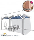 Pergola complete wood douglas wall 2 with blind velum hdpe and assembly kit Nesling