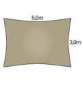 Veil Rectangle 3 x5m Coolaroo Range COMMERCIAL 340gr / m² top quality guarantee 15 years color beech - beech
