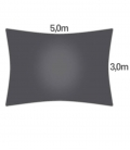 Veil Rectangle 3 x5m Coolaroo Range COMMERCIAL 340gr / m² top quality guarantee 15 years color graphite