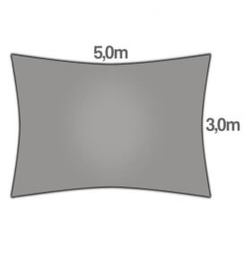 Voile Rectangle 3x5m Commerciale