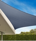 Voile d'ombrage Triangle 5m Commerciale garantie 15 ans 340 gr/m² Marque Coolaroo Coloris Slate