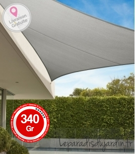 Shade sail Triangle 5m Commercial warranty 15 years 340 gr / m² Brand Coolaroo Color Stone