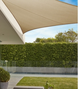 Shade sail Triangle 5m Commercial warranty 15 years 340 gr / m² Brand Coolaroo Color Beech