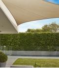 Voile d'ombrage Triangle 5m Commerciale garantie 15 ans 340 gr/m² Marque Coolaroo Coloris Beech