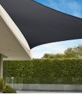 Voile d'ombrage Triangle 5m Commerciale garantie 15 ans 340 gr/m² Marque Coolaroo Coloris Graphite