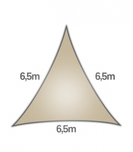 Veil Triangle 6.5m Commercial warranty 15 years coolaroo 340gr / m² beech