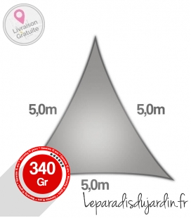 Sailing Triangle 5m Commercial warranty 15 years 340gr / m² coolaroo stone